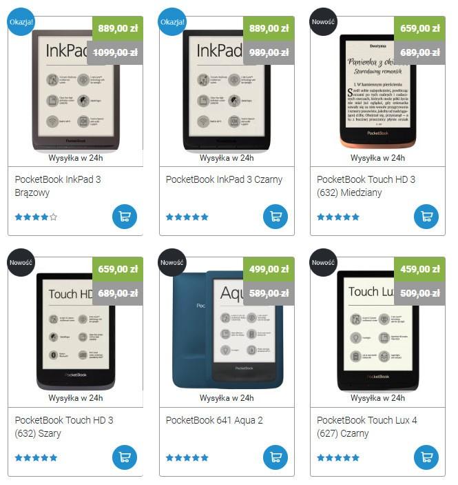Czytniki PocketBook z dostępem do abonamentu Legimi