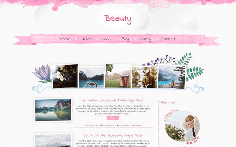 Beauty Free Blogger Template