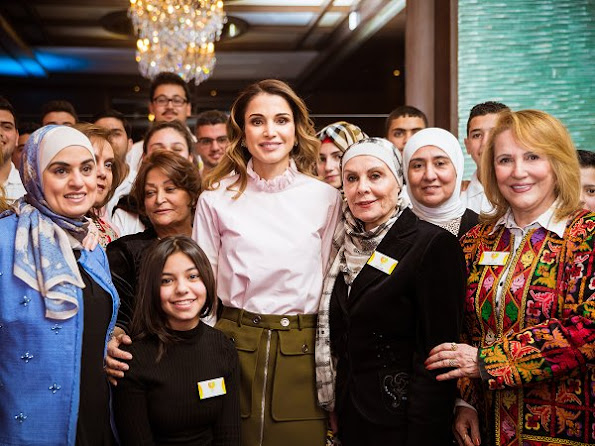 Queen Rania of Jordan opened the IBDAA Expo 2017 at the Crown Plaza Hotel in Amman