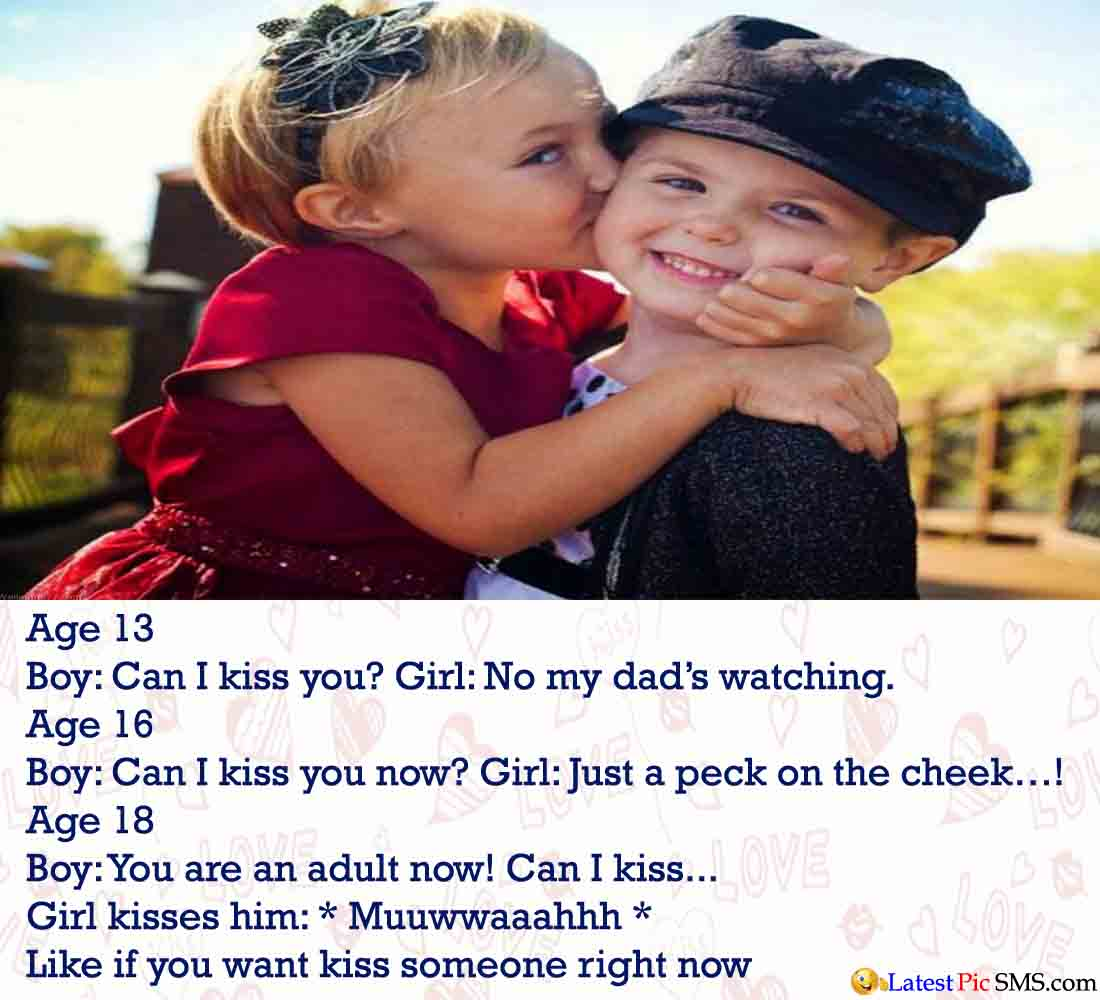 Girl Kiss Boy Photos Quotes