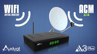 Atualização AudiSat A3 Plus V. 1.3.54