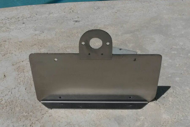 Trailer License Plate Bracket Stainless Steel