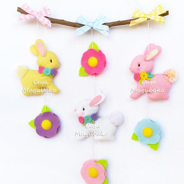 Bunny Wall Hanging by casamagubako.com