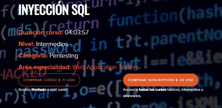Inyección SQL (Backtrack Academy)