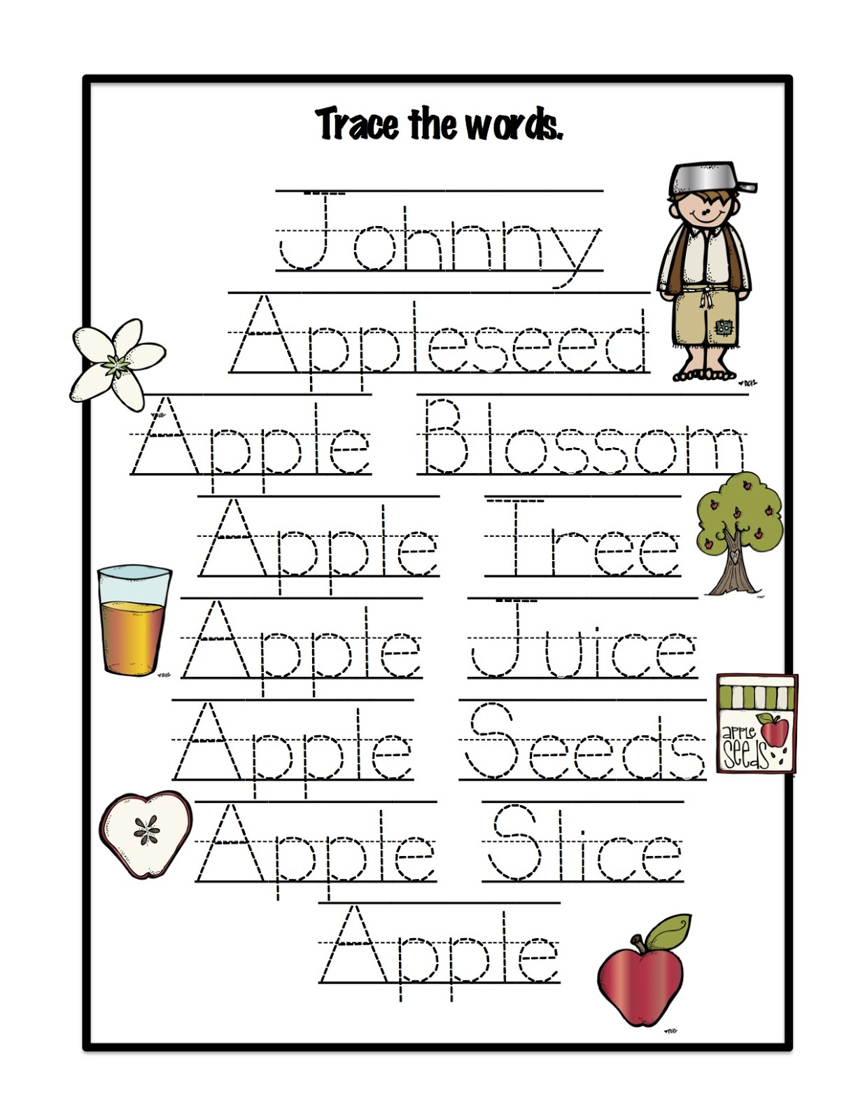 Johnny Appleseed Mini Book Printable Happy Father S Day