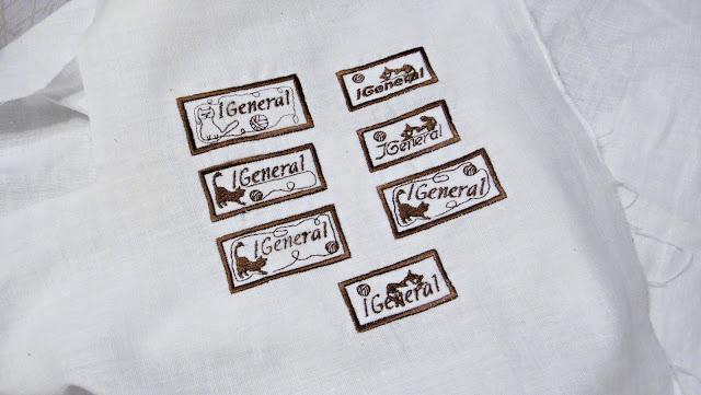 Этикетки для мастеров, бирки для изделий ручной работы: хлопок, вышивальные нитки, стабилизирующий материал на оборот