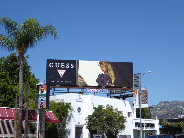 Guess Hailey Baldwin FW 2016 billboard