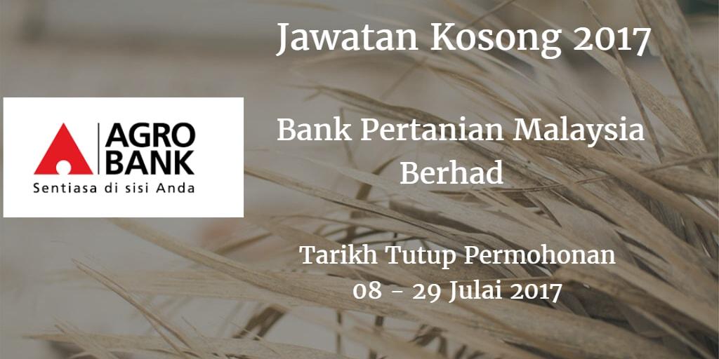 Jawatan Kosong Agrobank 08 - 29 Julai 2017