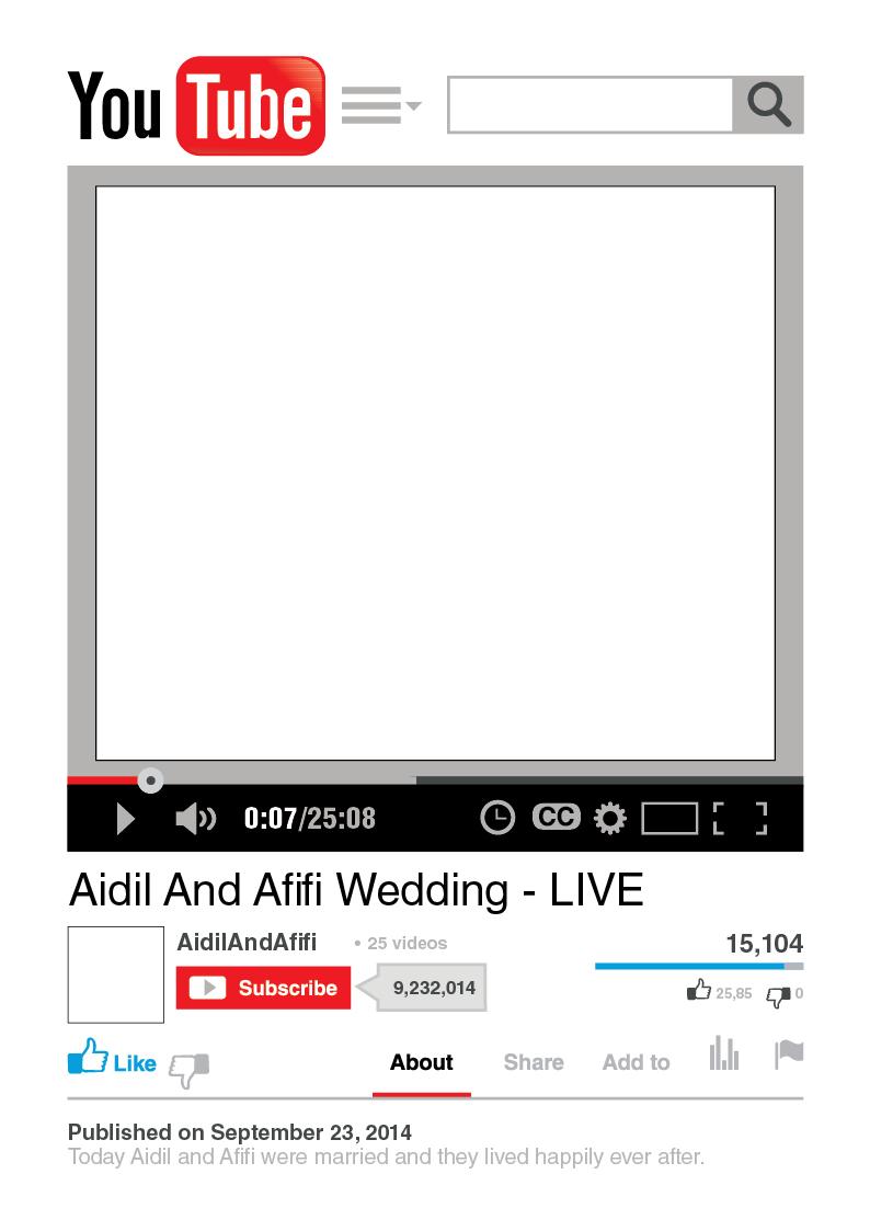 WEDDING props Frame FACEBOOK  INSTAGRAM