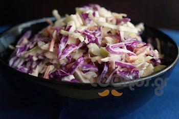 Λάχανο σαλάτα με μήλο και μαγιονέζα