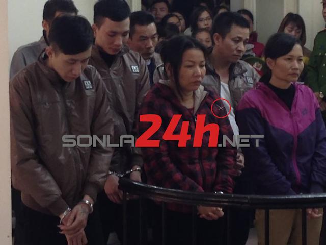 Tuyên 2 án tử hình, 6 án tù chung thân đối với đường dây buôn ma túy từ Sơn La về Hà Nội.