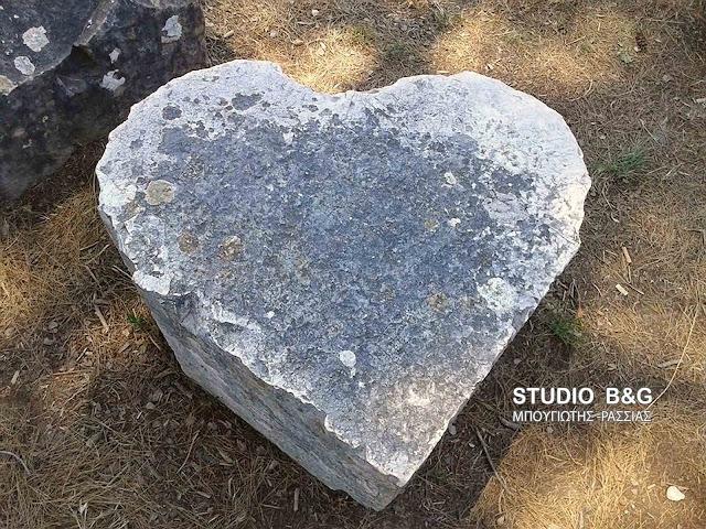 Η αγάπη παίρνει σχήμα σε αρχαία πέτρα στην Ολυμπία