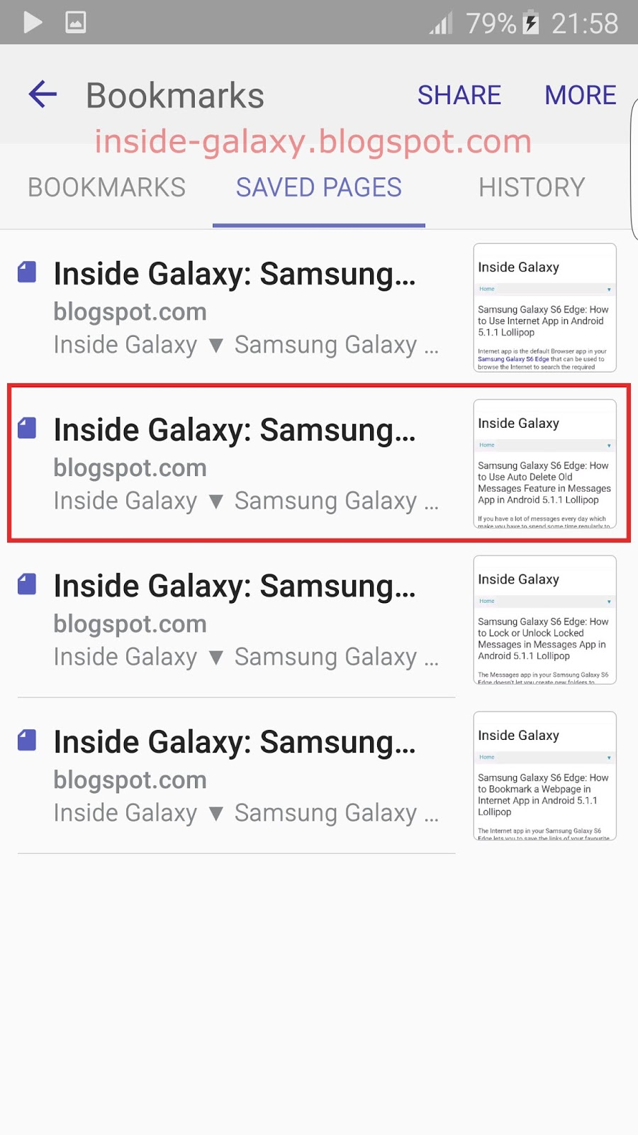 Samsung Galaxy S6 Edge: How to Save Webpages for Offline