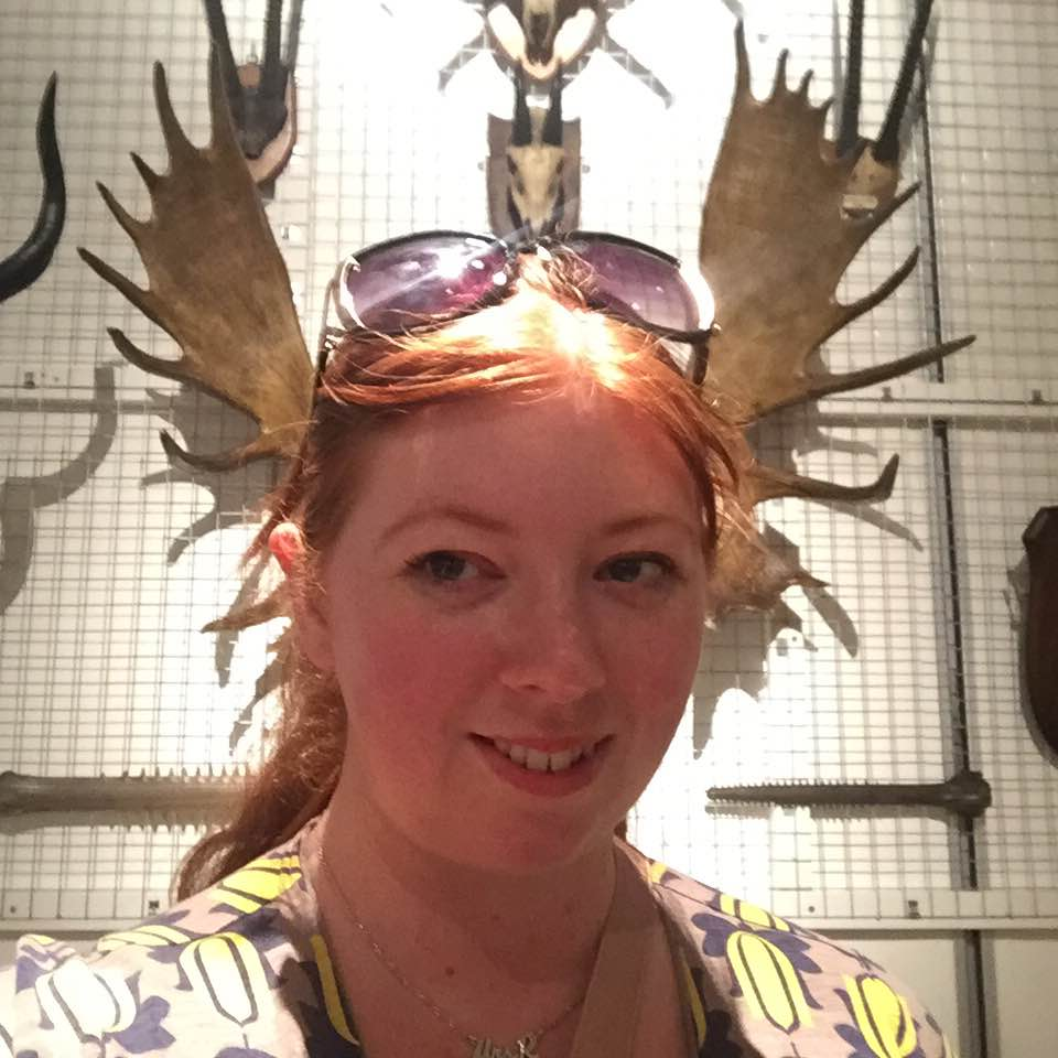 Bones Exhibition at Hancock Museum, Newcastle - antler selfie