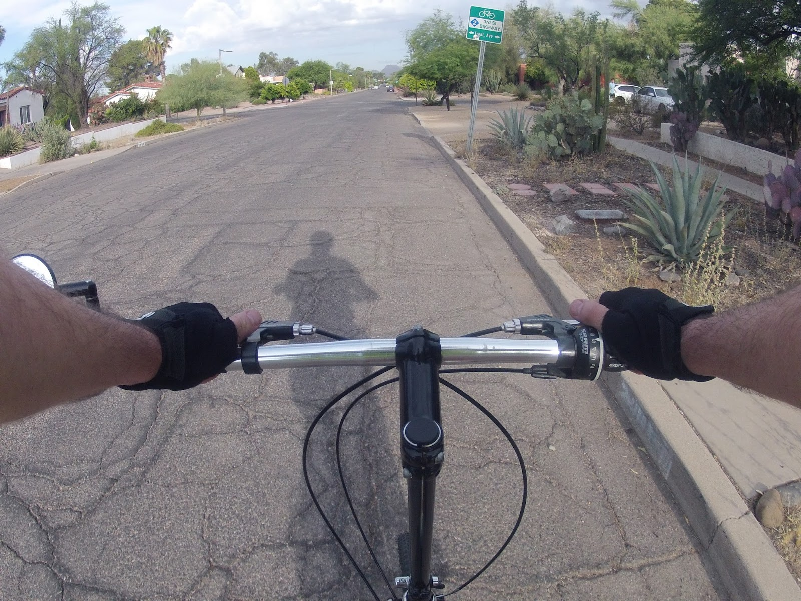 bike routes are also marked by signs where the bike routes intersect