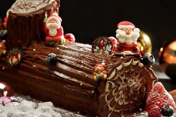 Hasil gambar untuk makanan khas natal Yule Log (Prancis)