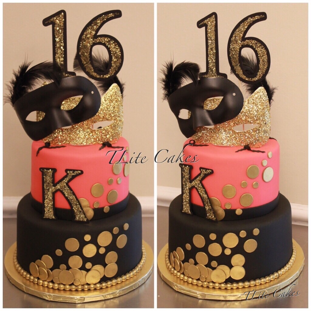 Stupendous Tlite Cakes And Planning Sweet 16 Masquerade Theme Cake Funny Birthday Cards Online Alyptdamsfinfo