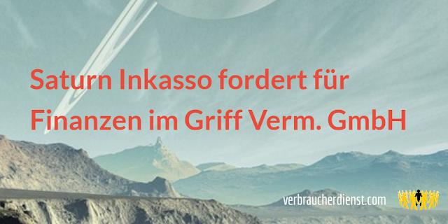 Titel: Saturn Inkasso fordert für Finanzen im Griff Verm. GmbH
