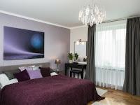 Wandgestaltung Schlafzimmer Brombeere