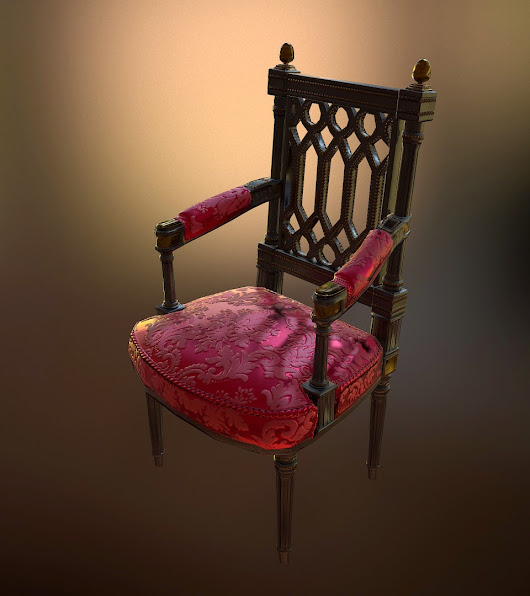 3D Prited Chair Georges Jacob (1739-1814)