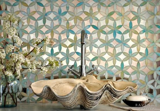 The Peak Of Très Chic: Not Your Grandma's Tile + Bathroom