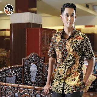 model baju batik keris pria
