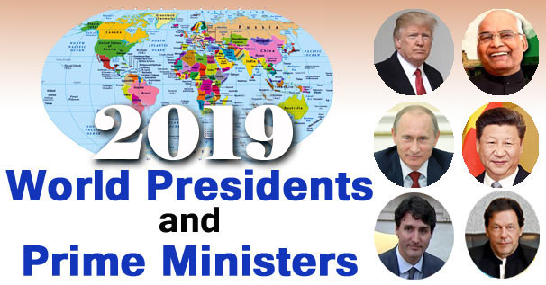 countries and their presidents and prime ministers