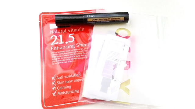 Samples: C20 Natural Vitamin 1.5 Enhancing Sheet Mask and Klairs Creamy $ Natural Fit Concealer and more!