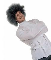 Deli gömleği giydirilmiş bonus kafalı bir deli adam
