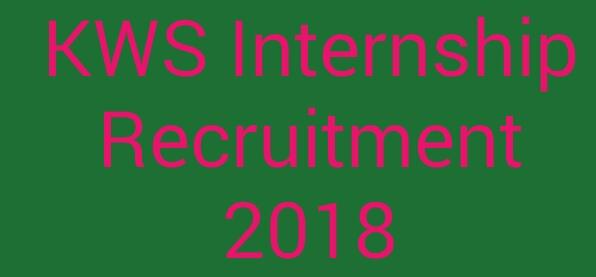 KWS internship recruitment 2018