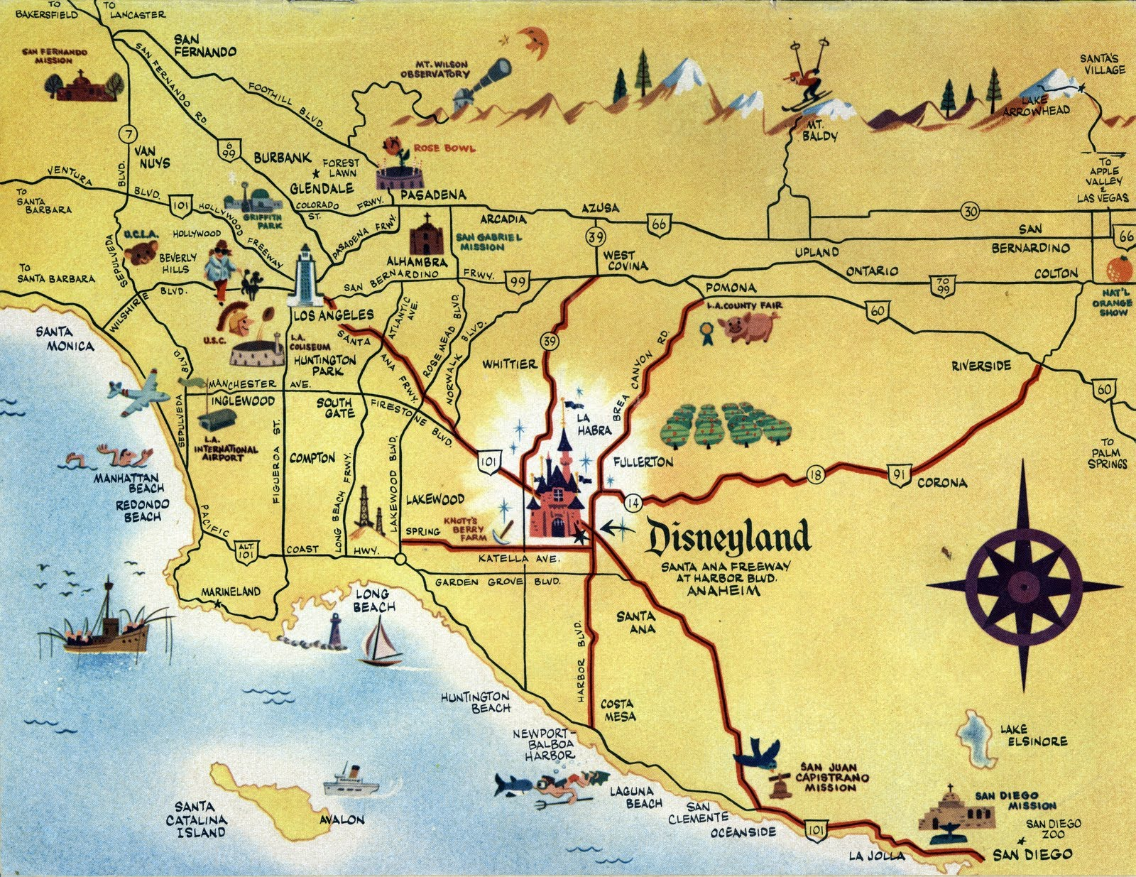 Missions In Southern California Map.O C History Roundup Summer Fun In Southern California