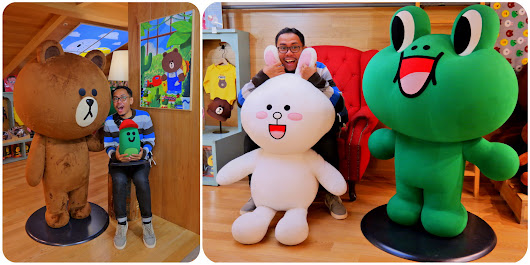 Ketemu Brown, Cony, James di LINE Store & Cafe KOREA