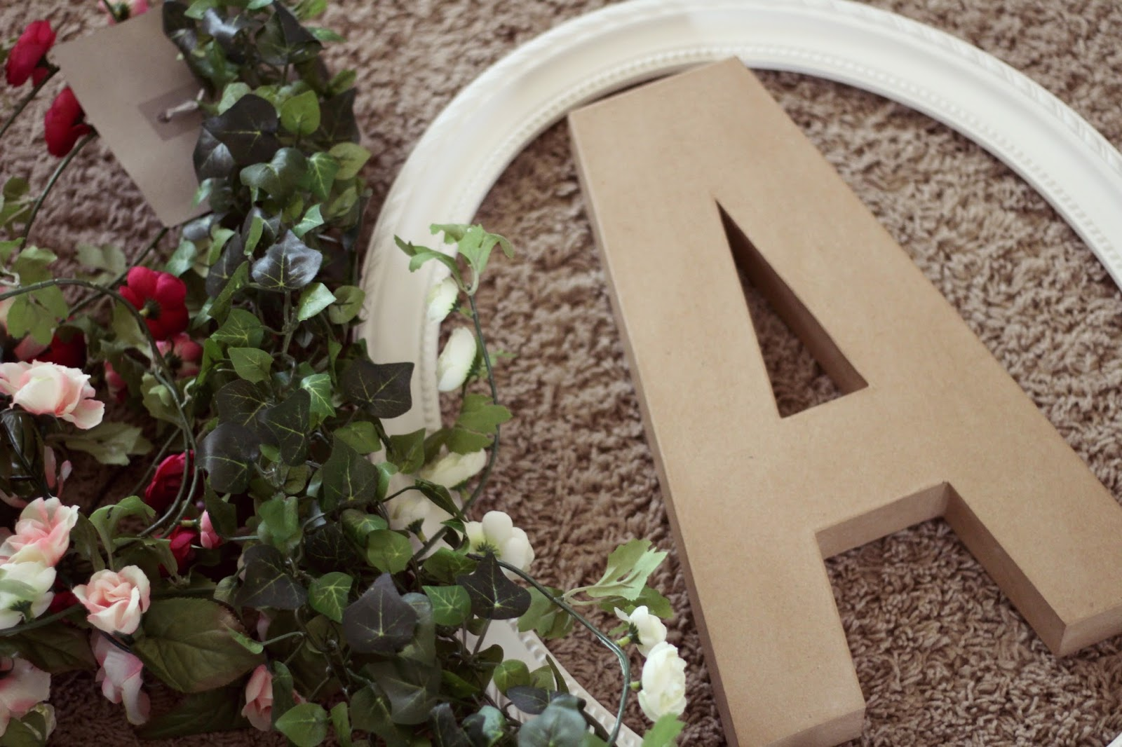Diy floral initial nightchayde sketch out the letter if you are setting it in a frame make sure it is sized as such cut out letter with the sharp blade spiritdancerdesigns Gallery