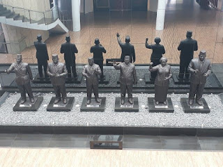 Patung Presiden di Museum Kepresidenan RI Balai Kirti Kota Bogor