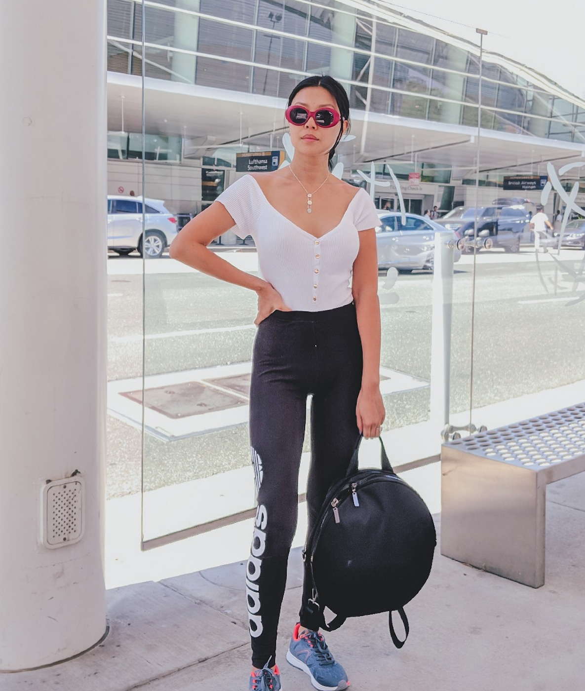 airport outfit travel style