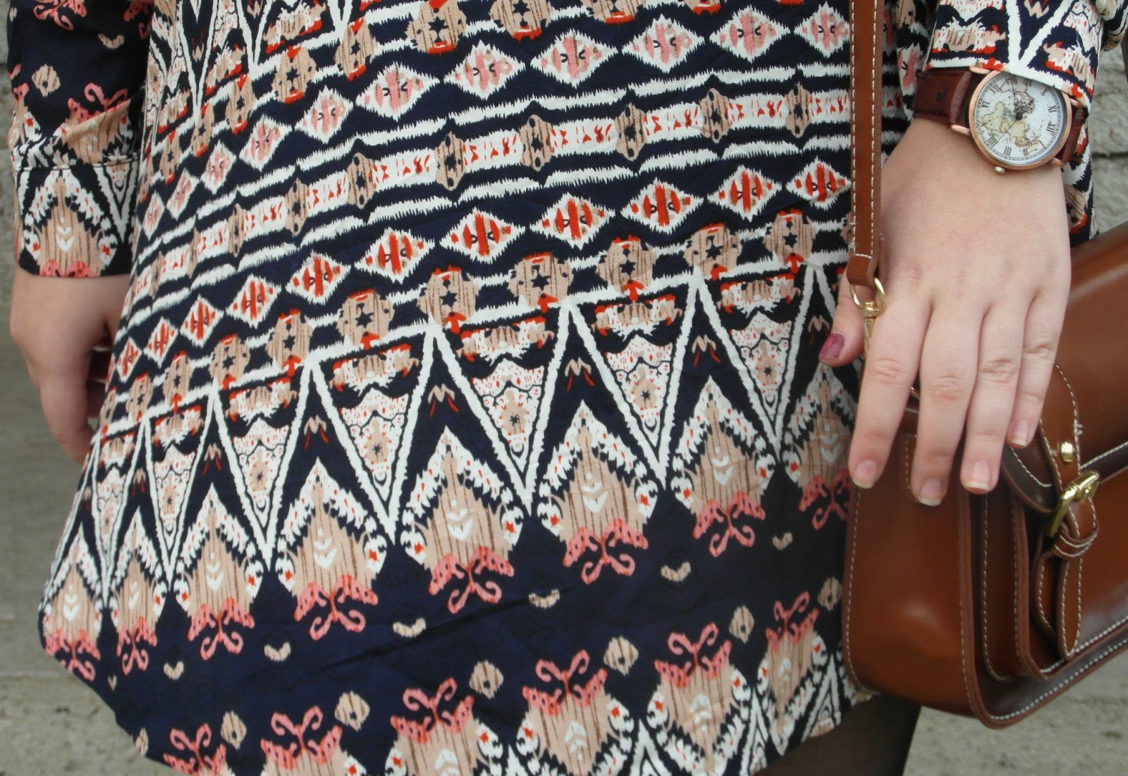 OOTD #1 [Autumn Geometric Dress]