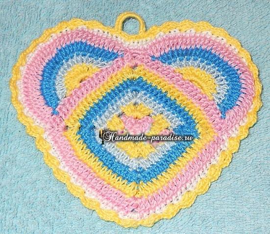 Прихватка сердце крючком (1)