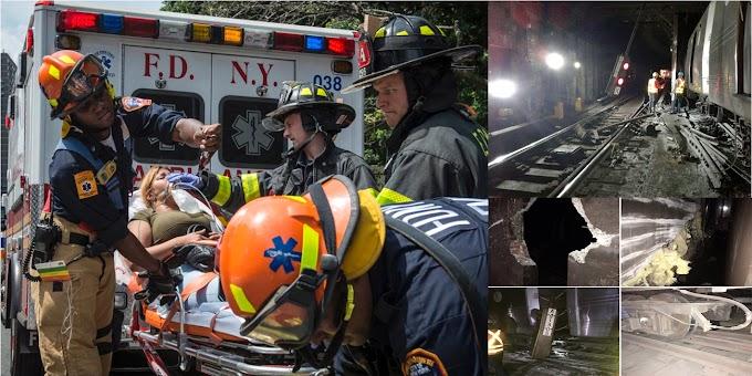 Dominicanos que viajaban en tren accidentado en Harlem no han sido identificados; hay 39 heridos