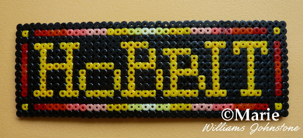 Hobbit LOGO perler bead design by craftymarie