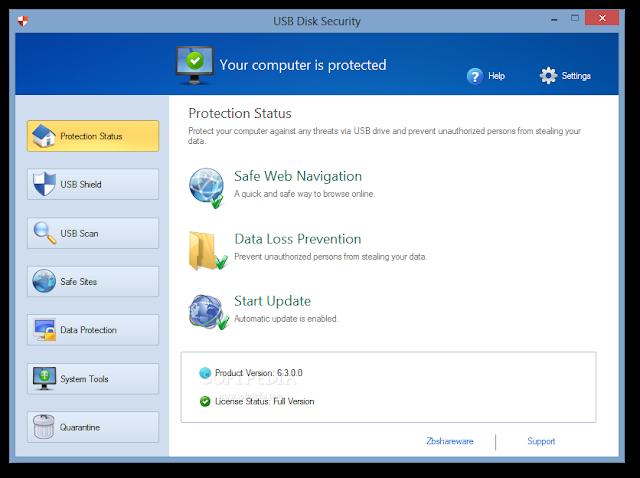 برنامج تنظيف وحماية فلاش USB للكمبيوتر USB Disk Security 6.5