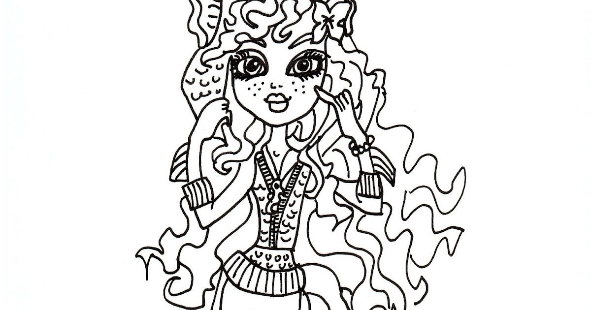 Free Printable Monster High Coloring Pages Cleo Dawn Of