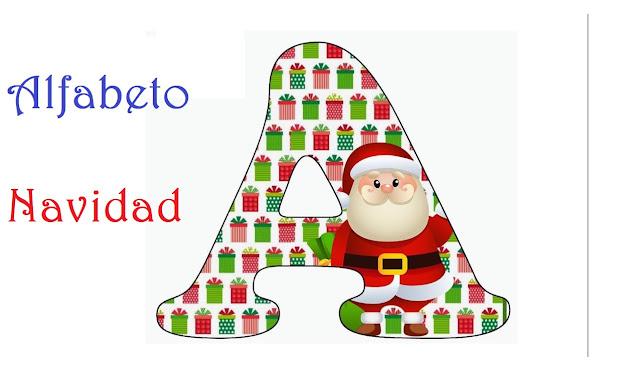 abecedario,letras,vocales,adornos,navidad
