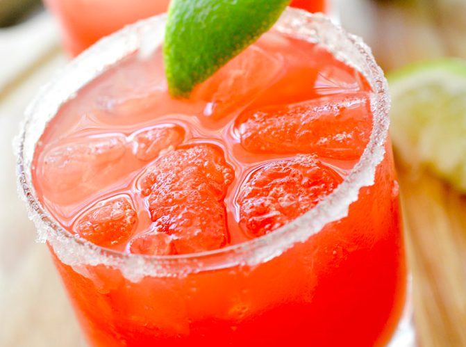 2 POINT WATERMELON MARGARITAS #healthydrink #easyrecipe