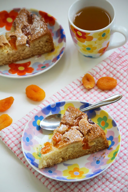 łatwe ciasto, proste ciasto, ciasto z morelami