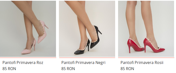 Pantofi cu toc mediu din piele lacuita de ocazii rosii, negri, bej
