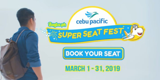 CEBU Pacific to hold 'biggest' Seat Sale yet on Friday, March 1, 2019
