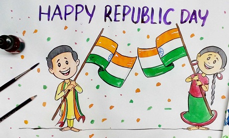 drawing n th republic day drawing pictures images  republic day 2018 drawing ideas for kids drawing essay images