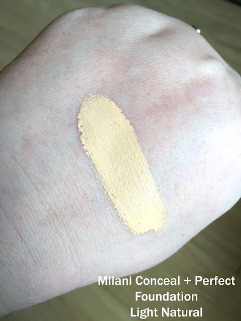 Milani Conceal + Perfect 2 in 1 Foundation Light Natural Swatch