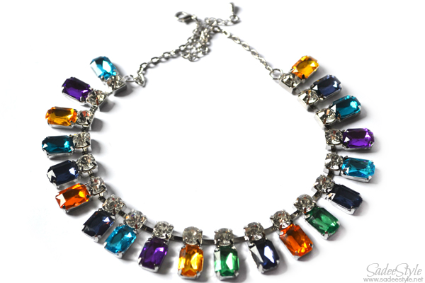 Colorful Crystal Pendant Necklace