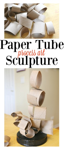paper tubes process art sculpture